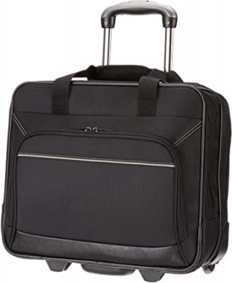 AmazonBasics Rolling Bag Laptop Computer Case with Wheels 10